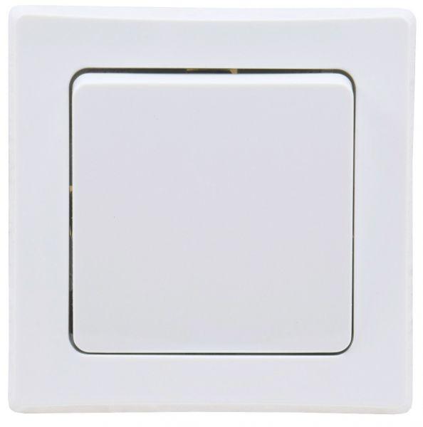 DELPHI Wechsel-Schalter, UP, weiß 250V~/ 10A, inkl. Rahmen, Klemmanschluss