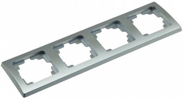 DELPHI 4-fach Rahmen in Silber