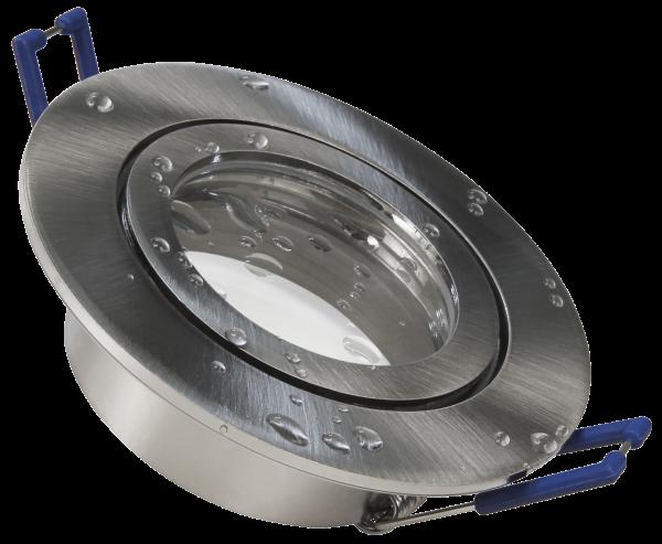 Einbaurahmen McShine DL-54 rund, Clip-Verschluss, IP44, Edelstahl gebürstet
