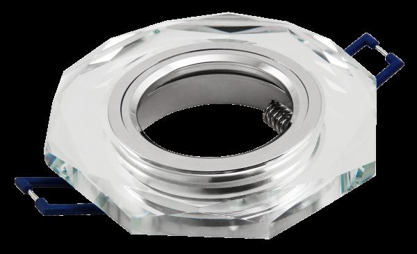 Einbaurahmen McShine Kristall-60 rund, Ø98mm, Glas, achteckig