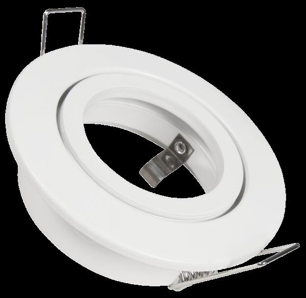 Einbaurahmen McShine DL-248w rund, Ø82mm, schwenkbar, Clip Verschluss