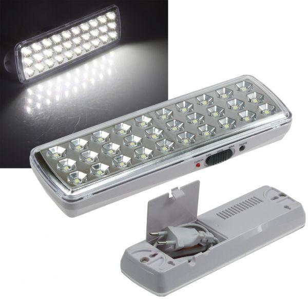 "LED Notleuchte ""CTNL-30 SMD"" 205x65x30mm Lithium Akku 3,7V/1200mAh, nur 2W"