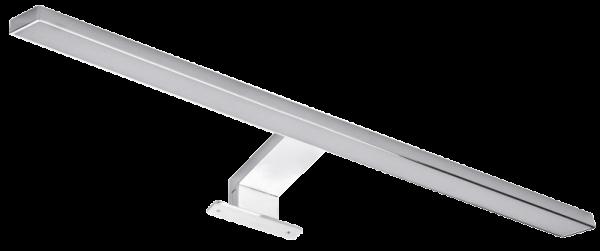 LED Spiegelleuchte, 5,5W, 310lm, warmweiß, 50cm, 3 Montagemöglichkeiten, chrome