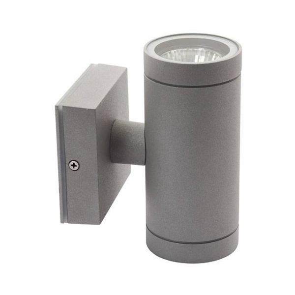 Edle zylinderförmige Wandleuchte für den Außenbereich 2x GU10 Fassung