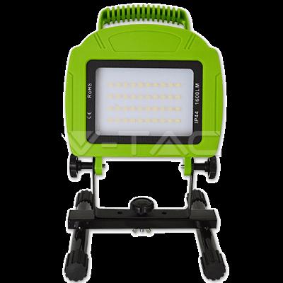 Mobiler LED Fluter / Scheinwerfer mit Akku 20 Watt und 1600 Lumen neutralweiß