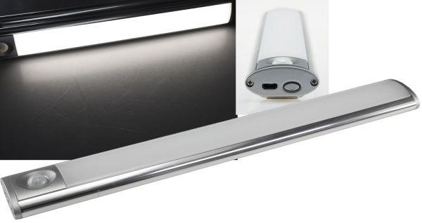 """LED Akku-Leuchte PIR Sensor """"MAL-30 nw"""" 30x4x2cm, 3W, 150lm, Alu, neutralweiß"""