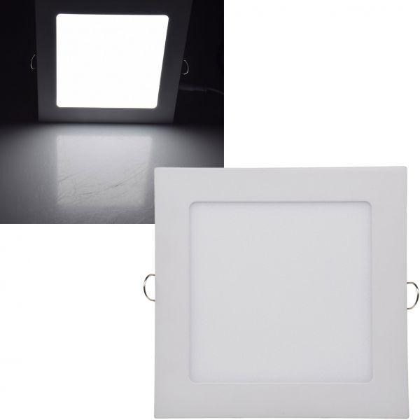 "LED Licht-Panel ""QCP-17Q"", 17x17cm 230V, 12W, 870 Lumen,4200K / neutralweiß"