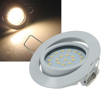 """LED-Einbauleuchte """"Flat-26"""" warmweiß 80x26mm, 4W, 330lm, weißes Gehäuse"""