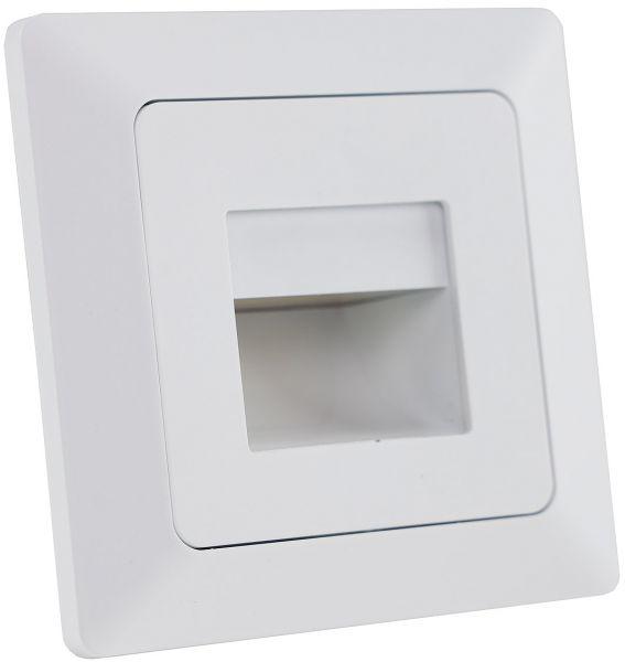 """MILOS LED-Einbauleuchte """"COB"""" weiß matt 80x80mm, 3000k, warmweiß, 110Lumen"""