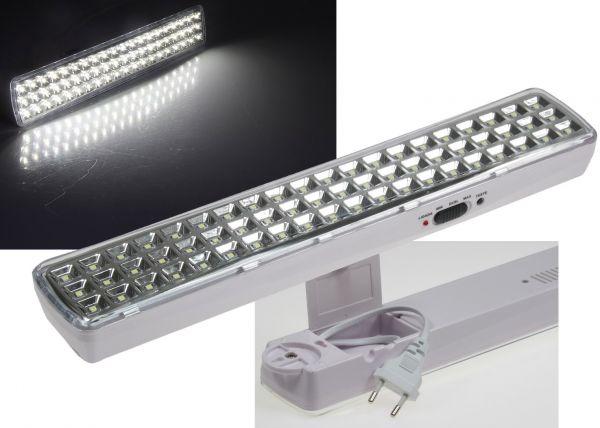 "LED Notleuchte ""CTNL-60 SMD"" 365x70x37mm Lithium Akku 3,7V/2200mAh, nur 4W"