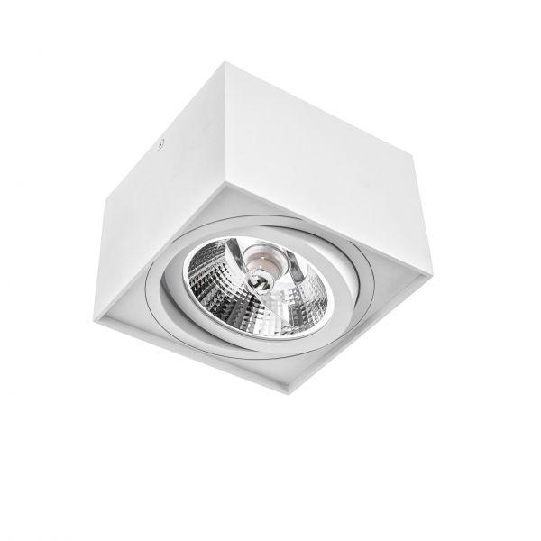 Spectrum LED Deckenleuchte Eckig CHLOE AR111 ohne Leuchtmittel Weiß