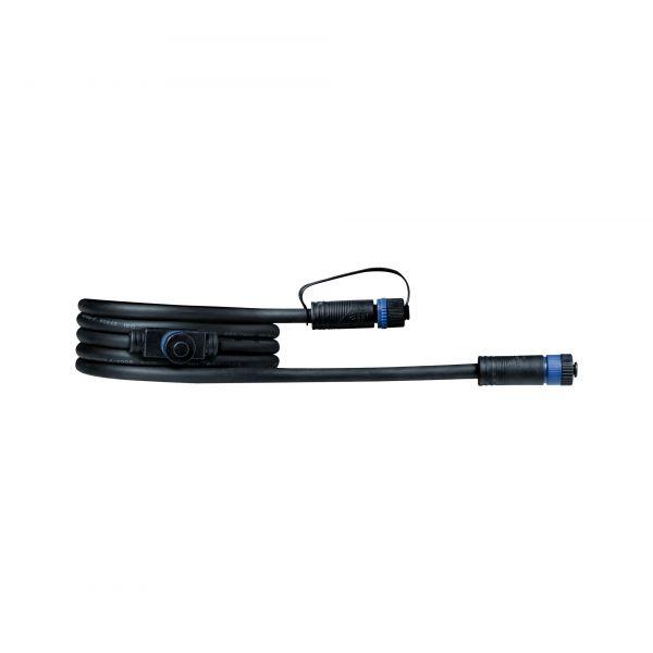 Paulmann Outdoor Plug & Shine Kabel IP68 2m mit zwei Anschlussbuchsen