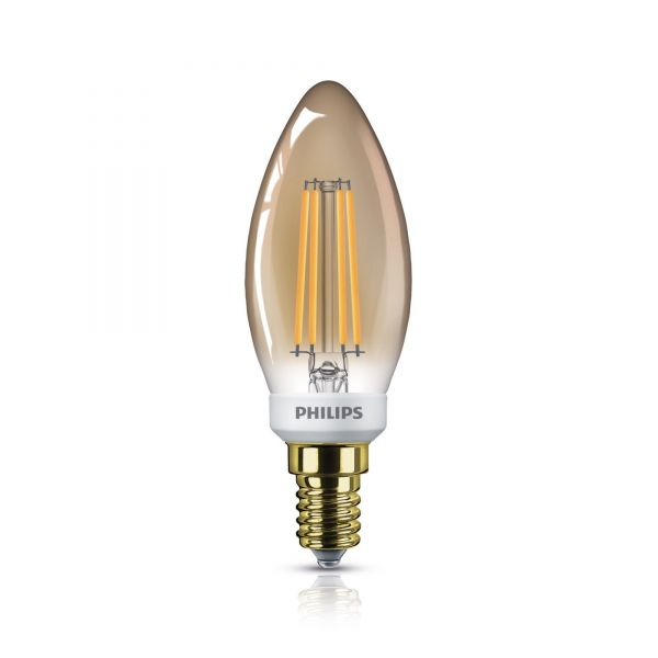 Philips LED Candle E14 Gold 5W 2200K 350lm