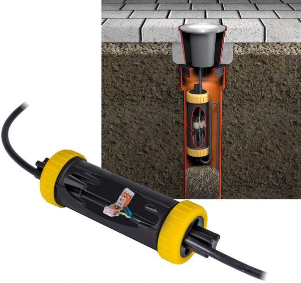 Dosenmuffe IP68 für bis zu 4 Kabel von 6-14mm Ø, 1m wasserdicht