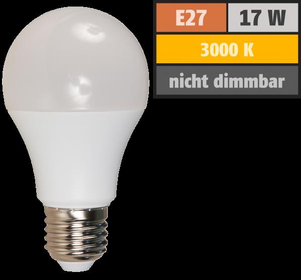 LED Glühlampe McShine, E27, 17W, 1520lm, 220°, 3000K, warmweiß, Ø60x139mm