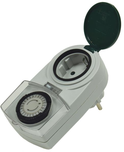 """analoge Tages-Zeitschaltuhr """"AAZ-7"""" IP44, max. 3500W / 16A"""