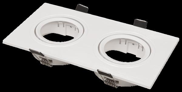 Einbaurahmen McShine DL-482 eckig, 2-fach, 173x93mm, schwenkbar, weiß