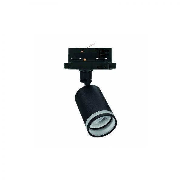 Spectrum LED MADARA MINI OPAL RING GU10 3-Phasen Strahler 10W 250V Aluminium schwarz und weiß