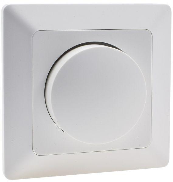 MILOS Dimmer für LED Lampen weiß matt 250V~/ 3-60W, inkl. Rahmen, UP