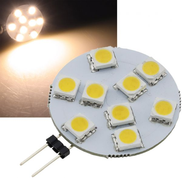 "LED Stiftsockellampe G4 ""HL-9"" 3000k, 120lm, 120°, 12V/1,2W, warmweiß"