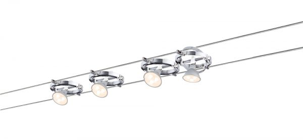 Paulmann Wire System Cardan LED 4x4W GU5,3 Chrom/Weiß 230/12V 80VA Metall