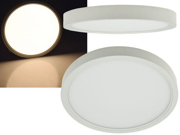 "LED Deckenleuchte ""Santano 18w"" Ø 22,5cm, 18W, 1420lm, 3000K warmweiß"