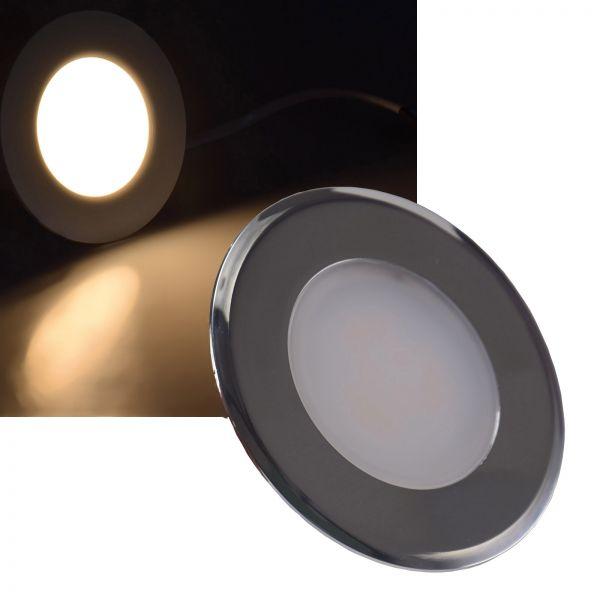 "LED-Einbauleuchte ""EBL-HV65si"", silber 2 Watt, 230V, 3000K, 160Lm, warmweiß"