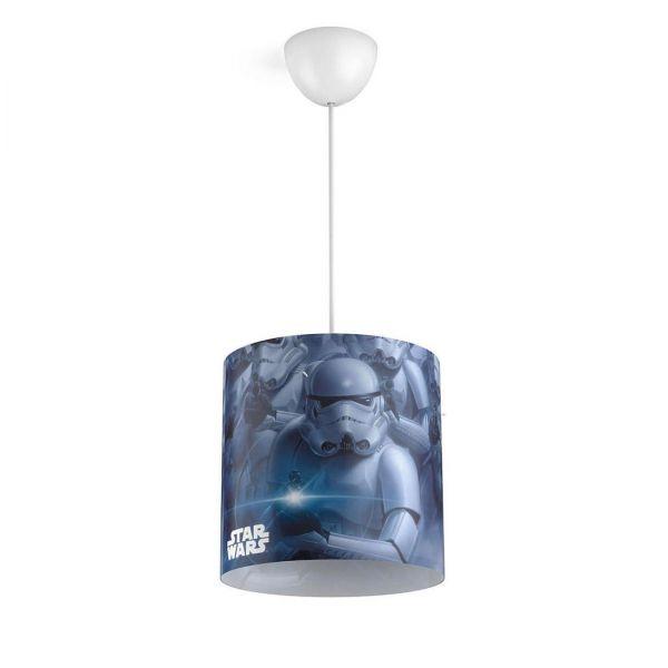 Philips Star Wars Pendelleuchte Stormtrooper Plastik E27 schwarz