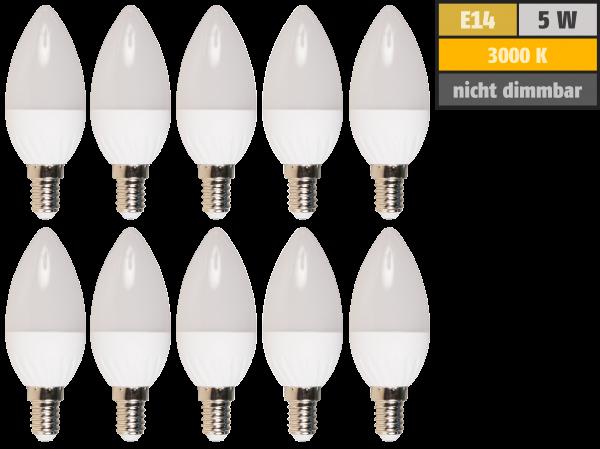 LED-Kerzenlampe McShine Brill95 E14, 5W, 400lm, warmweiß, Ra>95, 10er-Pack