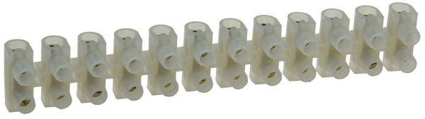 Lüsterklemmen für 10-16mm², 12 Klemmen Messingeinsatz, transparent