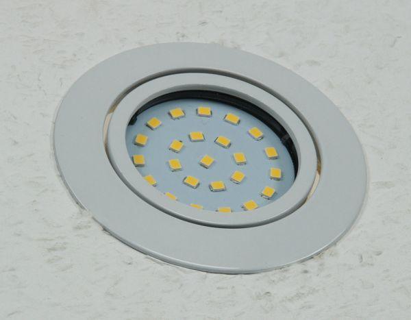 """LED-Einbauleuchte """"Flat-26"""" neutralweiß 80x26mm, 4W, 350lm, weißes Gehäuse"""
