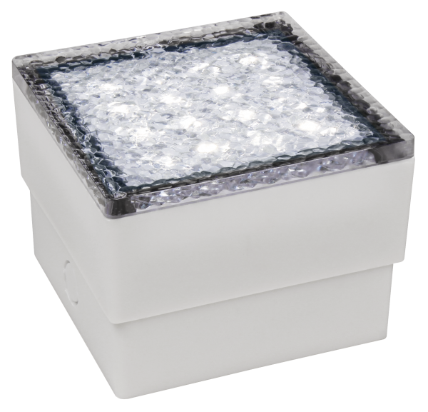 LED-Bodenleuchte McShine Pflasterstein 10x10x7cm, 80lm, IP65, neutralweiß,230V