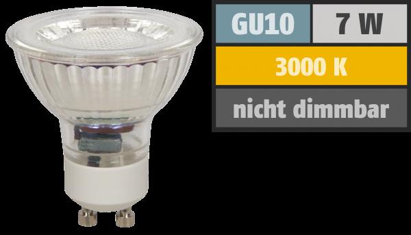 LED-Strahler McShine MCOB GU10, 7W, 550 lm, warmweiß