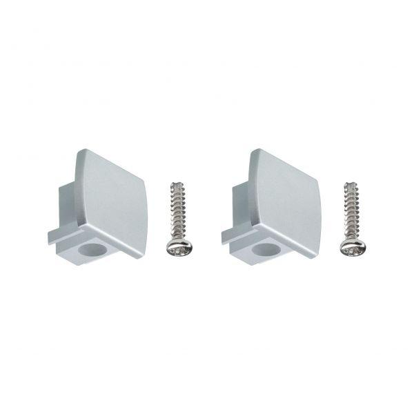 Paulmann URail Universal Endkappe 2er-Pack Chrom matt Kunststoff