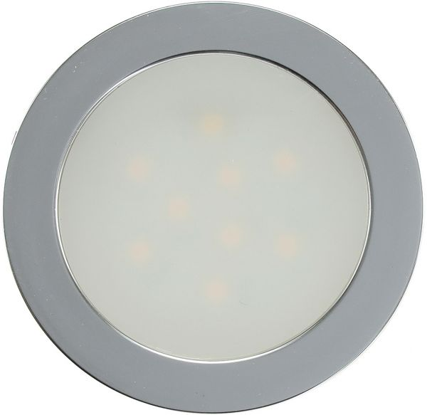 "LED Einbauleuchte ""EBL Slim W"" IP67, 9 LEDs, Alu matt, weiß, Ø55mm"
