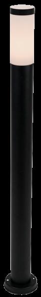 Außenleuchte, 80x1050mm, Edelstahl, schwarz, IP44