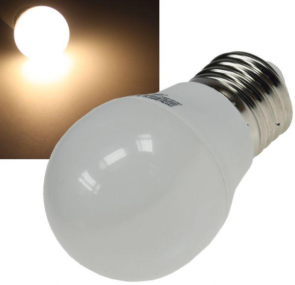 "LED Tropfenlampe E27 ""T25 SMD"" warmweiß 14 SMD LEDs, 3000k, 220lm, 230V/3W, 45mm"
