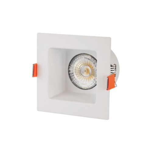 Einbaudownlight GU10 Quadrat weiß