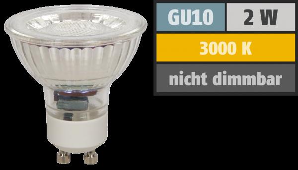 LED-Strahler McShine MCOB GU10, 2W, 150lm, warmweiß