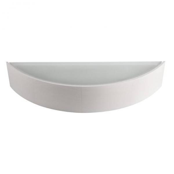 Wandleuchte aus Echtholz 407mm x 116mm mit E27 Fassung in Weiß/Beige