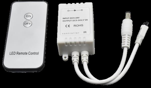 Controller McShine für LED Stripes, Ein/Aus, mit Fernbedienung