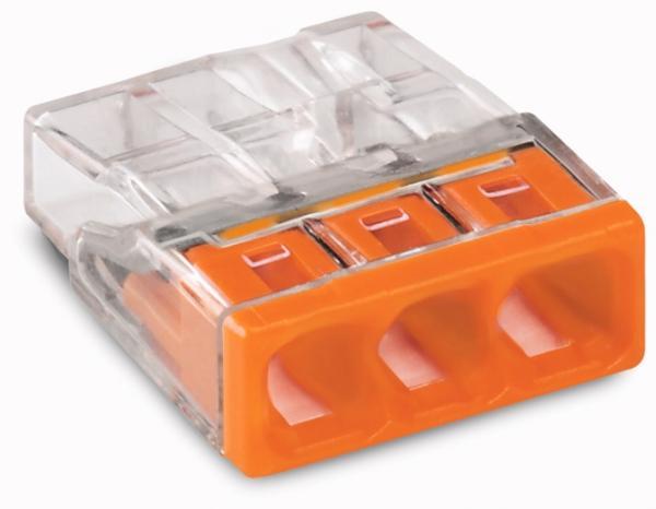 Wago COMPACT-Verbindungsdosenklemme 3-Leiter-Klemme 0.5 - 2.5 mm² orange