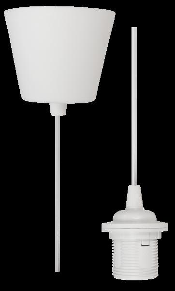 Lampenaufhängung McShine, E27 Fassung, weiß, 230V, 1,2m Kabel