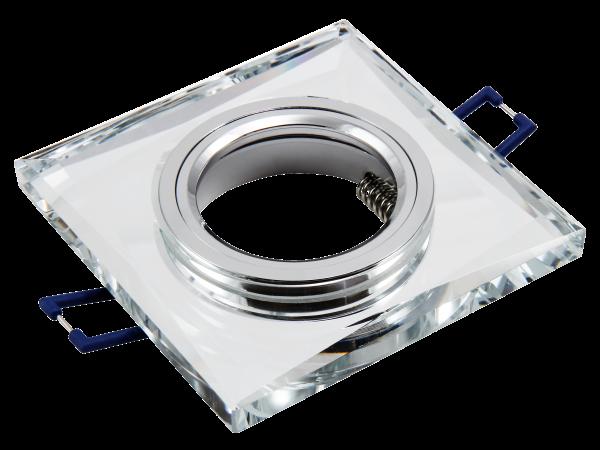 Einbaurahmen McShine Kristall-60 eckig, Ø90x90mm, Glas