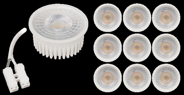 LED-Modul McShine MCOB 5W, 400Lm, 230V, 50x25mm, warmweiß, 3000K, 10er-Pack
