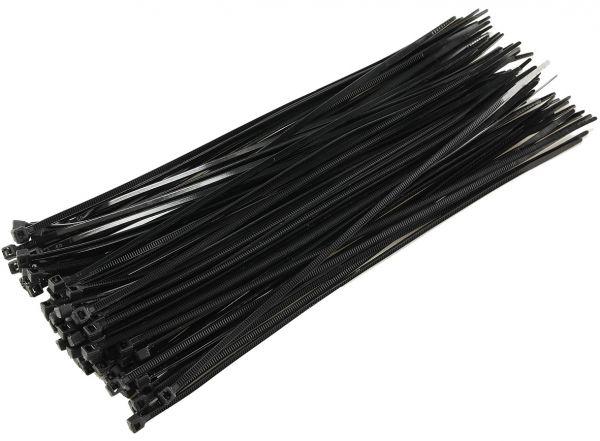 Kabelbinder 200mm x 2,5mm, schwarz 100er Pack, hohe Zugkraft, UV fest