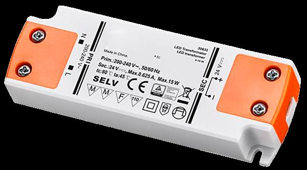 LED Trafo 15W, elektonisch, 24V DC