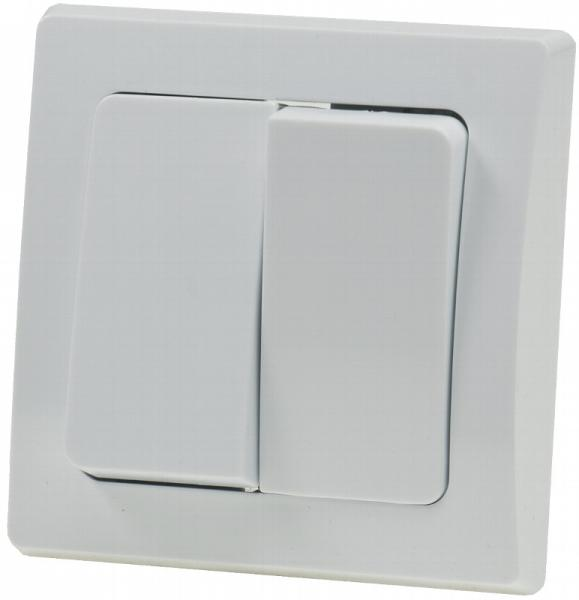 DELPHI 2-fach Serien-Schalter in Weiß