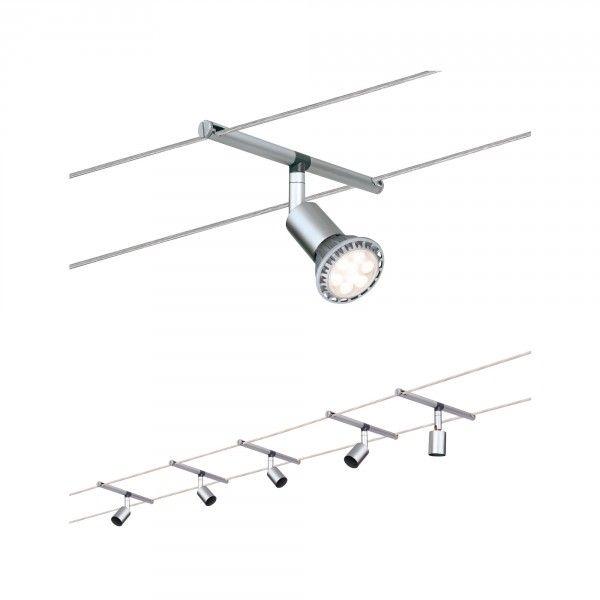 Paulmann Seil-System Salt max 5x10W GU5,3 Chrom matt 230/12V 80VA Metall