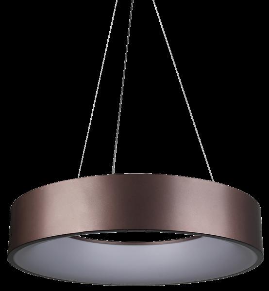 LED Hängeleuchte mit Metallring, 20W, 1725lm, 140LED's, warmweiß Ø 450mm, braun